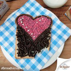 #deruijter #liefde #broodversieren #hagelslag #hart #liefde