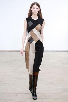 Look 13 Derek Lam Fall 2013 #NYFW #patchwork