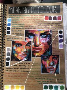 Inside outside, meaning of colour Textiles Sketchbook, Gcse Art Sketchbook, A Level Art Sketchbook Layout, Sketchbook Ideas, Art Inspo, Art Journal Inspiration, Arte Gcse, Art Du Croquis, Photography Sketchbook