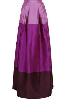 Temperley London Long Freesia satin-twill maxi skirt | NET-A-PORTER