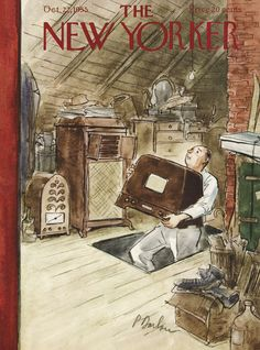 The New Yorker - Saturday, October 22, 1955 - Issue # 1601 - Vol. 31 - N° 36 - Cover by : Perry Barlow