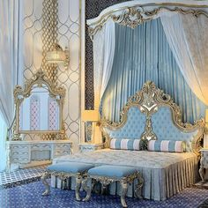 Traditional bedroom in one of the beautiful bedrooms chosen by people who love classic modern bedrooms. traditional design featured with . Dream Rooms, Dream Bedroom, Home Bedroom, Bedroom Decor, Bedroom Ideas, Bedroom Furniture, Mansion Bedroom, Royal Bedroom, Luxury Bedroom Design