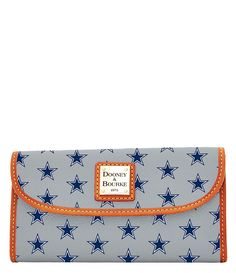 Dooney and Bourke NFL Collection Dallas Cowboys Continental Clutch Dallas Cowboys Wallet, Dallas Cowboys Gifts, Dallas Cowboys Women, Dallas Cowboys Football, Afc Football, Pittsburgh Steelers, Cowboy Outfits, Grey Purses, Bellisima
