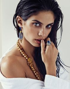 wet hair jewellery model photography - Google Search