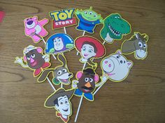 Set of 12 Cupcake Toppers Featuring Toy Story by CardsbyLexiRose, $15.00