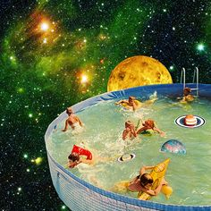 """Screaming Children in Pool"" by Eugenia Loli Portfolio 