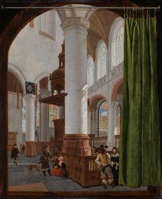 Gerard Houckgeest (The Hague 1600 – Bergen op Zoom 1661) Interior of the Oude Kerk in Delft, 1654 Oil on panel, 49 x 41 cm Rijksmuseum, inv. no. SK-A-1584 © Rijksmuseum Amsterdam