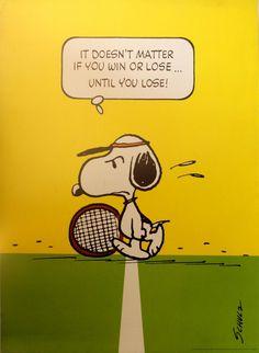 Original Vintage Posters -> Sport Posters -> Snoopy - Tennis - AntikBar