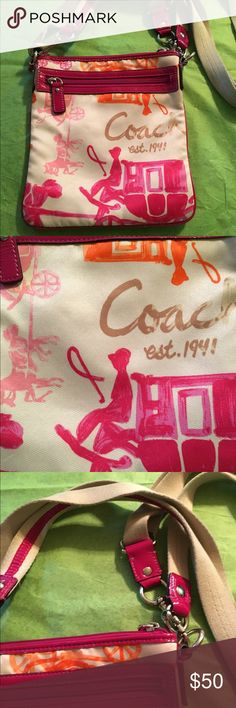 Authentic coach cross body bag vintage Vintage bag in pre owned good condition  Coach Bags Crossbody Bags