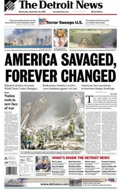 September 11, 2001 Attacks | newspaper front pages record September 11, 2001 attacks/Gallery 2 ...