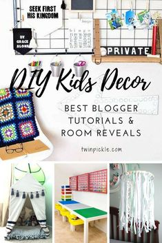 The best of 2017 DIY kids decor projects from interior/home decor bloggers. DIY play tent, lego table, notice board, wall art, ribbon mobile and more! #DIY #kidsdecor #bloggersroundup