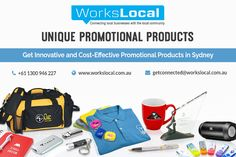 Workslocal presents unique promotional products to enhance your business growth in your local community. There are the different type of promotional products items are available like Apparel, bags, writing pens, electronic devices etc. Workslocal can sell its products by keeping customers' requirements in mind. You can check multiple collections of unique products and original in our websites.