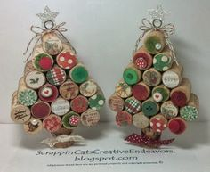 Wine Cork Christmas Trees, Inspired by Pinterest