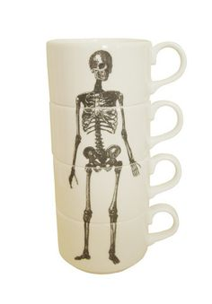 Skeleton Espresso Cup Stack by Phoebe Richardson | Luna & Curious