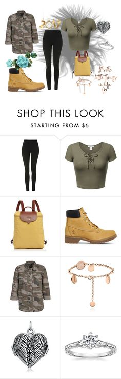 """""""Army Wife 2"""" by princessmelanne on Polyvore featuring Topshop, Longchamp, Timberland and Bling Jewelry"""