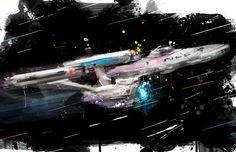 "Star Trek NCC-1701 Enterprise: the Wrath of Kahn Art Canvas; 16"" x 24"" and 20"" x 30"""