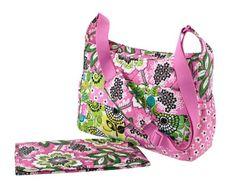 Vera Bradley Crossbody Baby Bag in Pink Medley: Baby