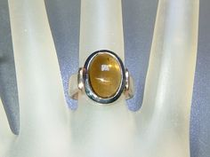 Bezel Oval Cabochon 5ct Green Tourmaline Solitaire Ring Sterling Silver by Gemsbygigialonia on Etsy