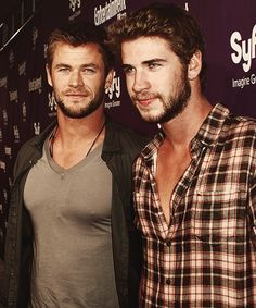 Excuse me while I melt over the Hemsworth Brothers.