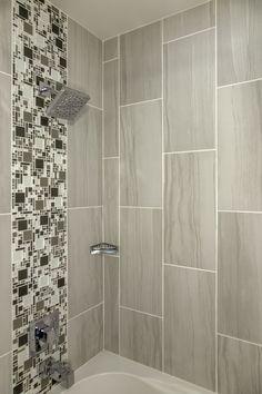 "Motion 12"" x 24"" Porcelain Field Tile in Advance Diy Bathroom Remodel, Basement Bathroom, Bathroom Cabinets, Bathroom Remodel Pictures, Laundry Room Bathroom, Bathroom Floor Tiles, Bathroom Furniture, Tiled Bathrooms, Bathroom Remodeling"