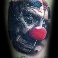 75 Clown Tattoos For Men - Comic Performer Design Ideas Good Clowns, Evil Clowns, Arm Tattoos, Small Tattoos, Tattoos For Guys, Evil Clown Tattoos, Clown Images, Clover Tattoos, Tattoo Trends
