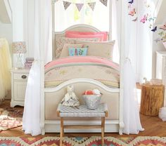 Jenni Kayne Ripley Linen Embroidered Quilted Bedding #pbkids
