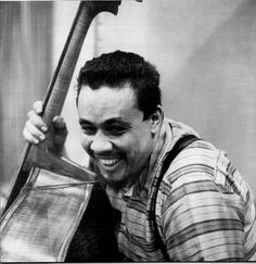 """Don Hunstein Charles Mingus, NYC, 1959 """"Charles Mingus in the studio captures the formidable humor and spontaneity of the artist as he cracks up mid-session at some off-camera hi-jinks"""". Photograph: Black and White Type: Archival Digital Print. All About Jazz, All That Jazz, Trombone, Saxophone, Violin, Piano, Charles Mingus, Thelonious Monk, Cool Jazz"""
