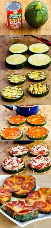 Low Carb Grilled Zucchini Pizza Food Pix / Recipe by Picture on imgfave