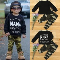Newborn Toddler Infant Kids Baby Boy Clothes T-shirt Tops Pants Outfits Set - June 01 2019 at Trendy Baby Boy Clothes, Boys And Girls Clothes, Newborn Boy Clothes, Newborn Outfits, Baby Boy Outfits, Kids Outfits, Jean Outfits, Kids Fashion Boy, Toddler Fashion