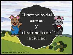 El ratoncito del campo y el ratoncito de la ciudad, a fable retold in Novice-Low Spanish cuento for beginners. Perfect for when you need some comprehensible input!