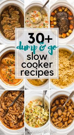 beforehand — simply throw it in and walk away! Easy crock pot dump meals for busy weeknights and back to school! Chicken, beef, pork, or vegetarian — there's something for everyone! #slowcooker #crockpot   easy crockpot meals   slow cooker recipes   crock pot recipes   slow cooker dinners   dinner ideas   slow cooker soup   crockpot chicken