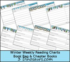 Winter is officially coming soon! It is time to get the next set of seasonal reading charts out! You can check out last year Weekly Winter Reading Charts. This year we are adding the chapter books and book bags to Hands On Learning, Kids Learning, First Grade, Second Grade, Weekly Reading Logs, Reading Charts, Chapter Books, Winter Theme, Fourth Grade