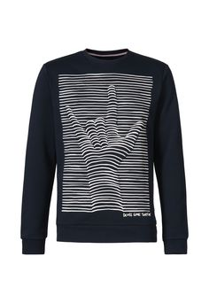 Sweater with graphic rubber print > Mens Sweaters | gsus