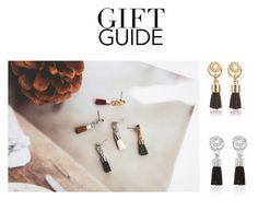 """""""Gift Guide: Tassel Earrings"""" by dearmissj ❤ liked on Polyvore featuring earrings, tassel and tasselearrings"""
