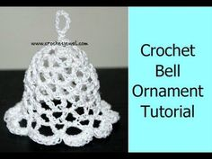 crochet christmas bell ornament, tree ornament, bell, holiday bell ornament, how to, diy - YouTube