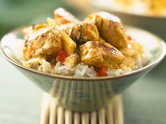 Curry thaï de poulet Frozen Shrimp, Cooking Sweet Potatoes, Thai Cooking, Pork Loin, Coco, Potato Salad, Food Porn, Low Carb, Menu