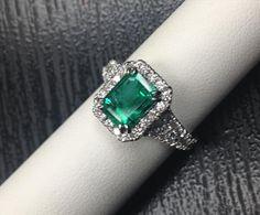 Jupiter Jewelry | Blog Platinum ring with emerald and diamonds