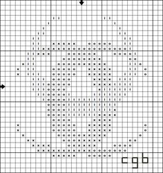 Free Triple Crescent Cross Stitch Pattern - Right click and save this chart from Pinterest and follow the link for the chart info and key.