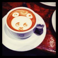 Panda Coffee Art.
