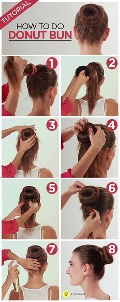 How To Do A Donut Bun – Pictorial