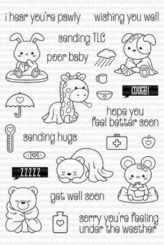 Clearly Besotted Clear Stamp Set - Under the Weather (CBSUN338)