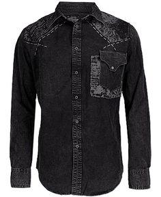 Affliction Of The Grid Button Front Shirt Denim Button Up, Button Up Shirts, Denim Shirts, Boy Hairstyles, Grid, That Look, Menswear, Boys, Casual
