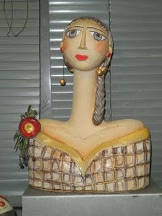 Handcrafted Ceramics This is the official website of Koralia Kolaiti and her ceramic art workshop. Ceramic Sculpture Figurative, Sculpture Clay, Sculptures, Paper Clay Art, Paper Mache Clay, Paper Dolls, Art Dolls, Hand Built Pottery, Guys And Dolls