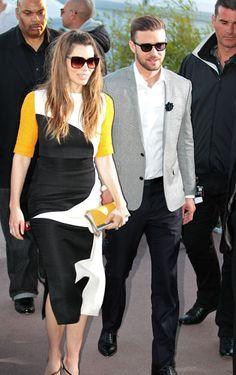 Le Grande Journal Studios - Jessica Biel in Roksanda Ilincic with Justin Timberlake
