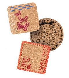 Stamped Cork Coasters: Home Decor Fabric Projects: Shop | Joann.com