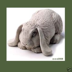 BASHFUL-BUNNY-Cement-8-LOP-EAR-Rabbit-Garden-Statue