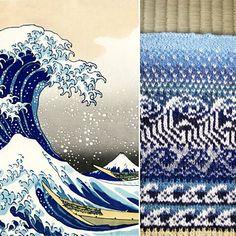 Ravelry: yumiket's Hokusai swatch #1 great wave
