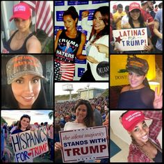 Here's another example of truth about the TRUMP movement. We are Hispanic, educated, business women!