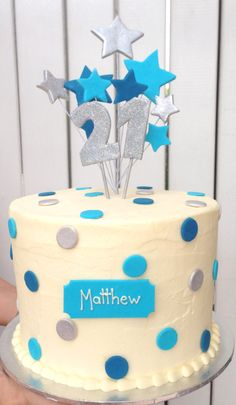 Male 21st birthday cake