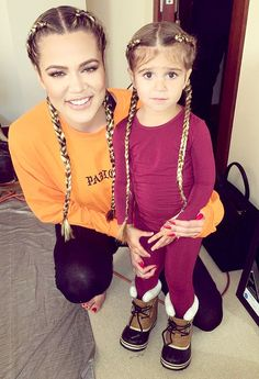 Penelope Disick Is Aunt Khloe Kardashian's 'Mini Me' in Adorable Matching Braids